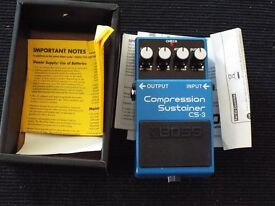Boss CS-3 Compression/Sustainer pedal.Unwanted gift.New - boxed.