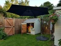Large garden parasol sunshade