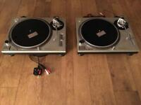SOLD - Pair of Technics SL 1200 mk 2 record decks DJ turntables