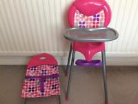 Graco dolls high chair & bouncer