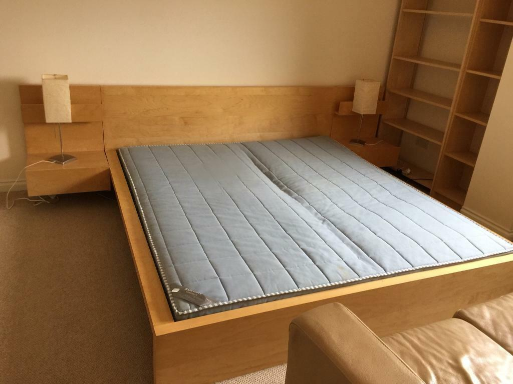 IKEA Malm king size bed and side tables