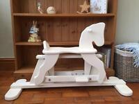 Shabby chic wooden rocking horse
