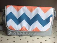 Brand New My Babiie Coral Chevron Baby Changing Bag