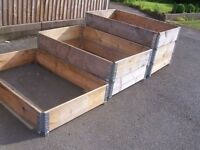 Wooden Raised Folding Garden Bed Frame.