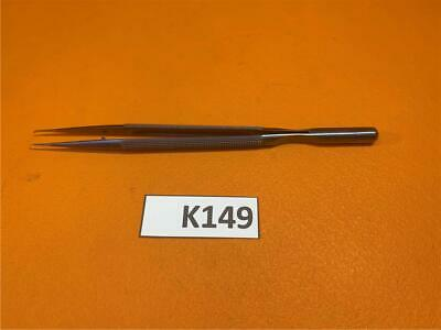 Scanlan Dennis Micro Forceps Straight Diamond Dust Ring Tips 1mm 7 3003-720