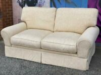 Laura Ashley Cream Fabric 2 Seater Sofa Delivery Available