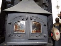 Big heavy woodburning woodburner stove