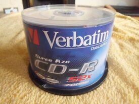 Verbatim recordable CD-R discs 52x700MB