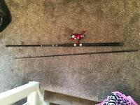 GT Pro Spin Fishing Rod with GT Pro reel with 10lbs breaking strain line.