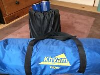 Khyam Eiger 2 person tent with inflatable mattress.