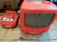 Kids cars tv and dvd set