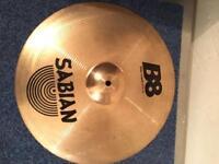"Sabian B8 Thin Crash 16"" and pearl stand"