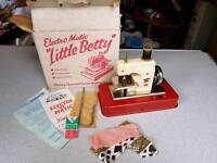 Vintage 60s toy sewing machine 'Little Betty' with box