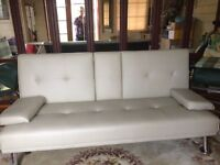 CREAM SOFA BED - ONLY USED HANDFUL OF TIMES