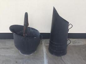 Coal bucket and coal scooper