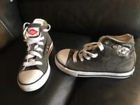 Boy's Lee Cooper Converse style boots, size 11, smoke & pet free home, collection Kingsteignton, £1