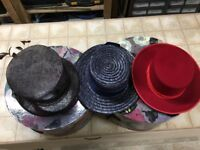 LADIES HATS & TWO BOXES