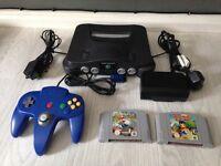Nintendo 64 console and games inc Mario kart n64