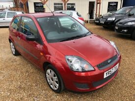 2007 FORD FIESTA 1.25 STYLE 3DR HATCHBACK RED LOW MILEAGE