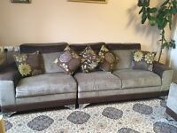 Brown and Cream Sofas