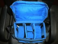 Blue Fotima Shoulder Camera Bag