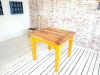 Modern Rustic Style Farmhouse Tapered Leg Extending Dining Table to Seat Eight People