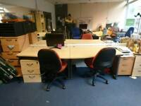 Office desks, chairs, draws