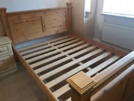 Wooden kingsize bed