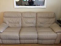 2 and 3 Seater Leather Reclining Sofas For Sale