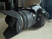 Nikon d90+ sigma 18-50 f2.8 lens