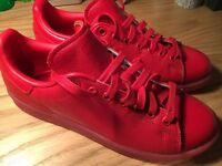 Adidas Stan Smith Adicolor Red Casual Shoes NEW