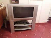"JVC TV 26"" with stand and Freeview box. Excellent sound with subwoofer speaker and good picture."