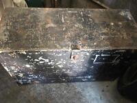 Large metal trunk,