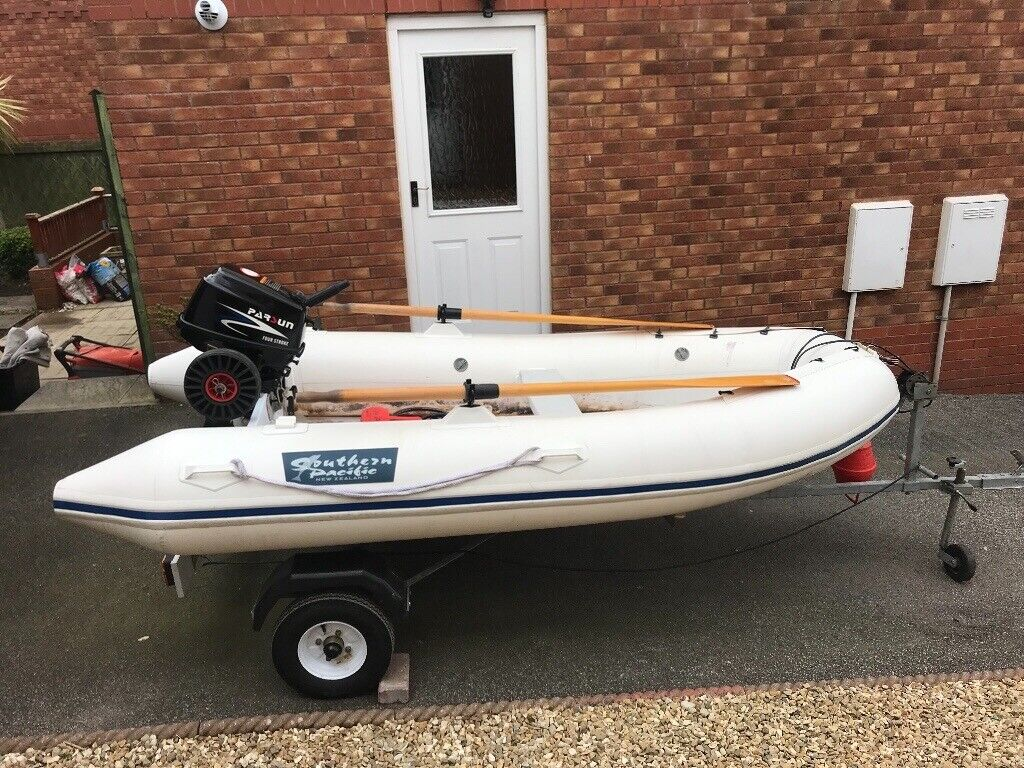 3m Rib with Trailer, engine & life vests | in Newquay, Cornwall | Gumtree