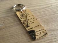 Pavarotti brass Key Ring Hyde Park 30 th July 1991
