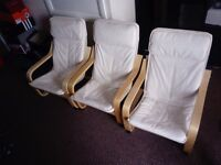 Set of 3 Ikea Poang childrens chairs, will sell seperately