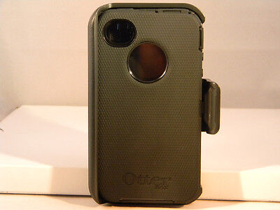 NEW OEM OTTERBOX DEFENDER SERIES BLACK CASE FOR THE IPHONE 4 4S 4 S WITH HOLSTER on Rummage