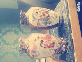 Pair of small Chinese vases for sale.