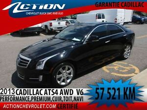 2013 CADILLAC ATS SEDAN AWD Performance,V6,cuir,toit,navi