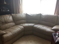 URGENT - 6 seater real leather corner electric recliner sofa
