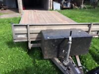 Heavy duty twin-axel trailer 14ft x 7ft 6 complete with ramps
