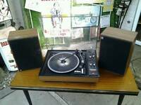 Vintage hifi job lot record players radio headphones etc