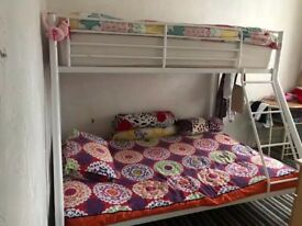 Triple metal bunk beds