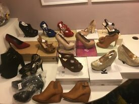 160 pairs ladies shoes, BRAND NEW in boxes and used , job lot