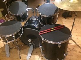 Drum Kit with Zildjian Cymbals, Practice Pads, Book & CD. VGC. £250 or make me an offer ;-)