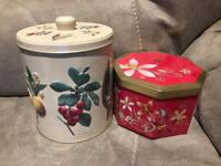 Two Biscuit Tins