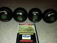 Henselite Tiger bowls size 4 lawn indoor short mat bowls balls wood ladies mens