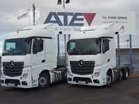 2013-2014 mercedes actros 2545 6x2 midlift auto tractor units ex our fleet buy or contract