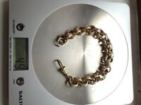 HUGE gold belcher bracelet 49grams