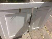 Free: two painted oak cabinet doors